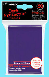 50-Ultra-Pro-PURPLE-DECK-PROTECTOR-Standard-Size-Card-Sleeves-NEW-pack-MTG