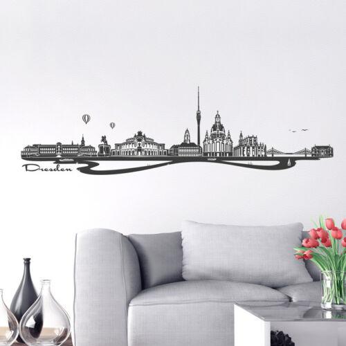 Skyline Dresde comme tapisserie murale déco autocollant de Wandkings