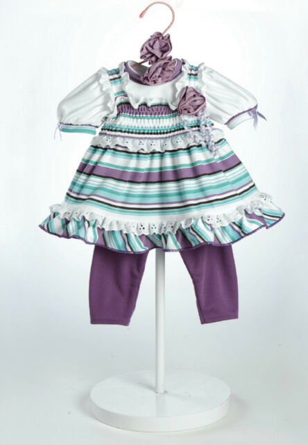 "Adora 20"" OUTFIT GRAPE SODA for Baby Dolls Purple Green White Stripes Lace NEW"