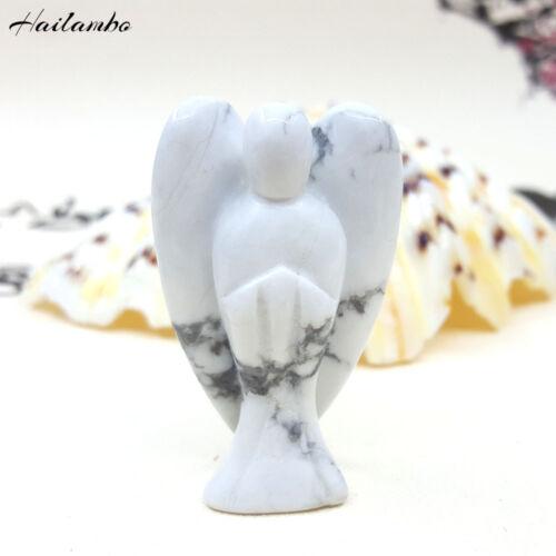 Nouvelle arrivée naturel NACRES Gemme Sculpté Ange Aile Pendentif Figurine Bijoux
