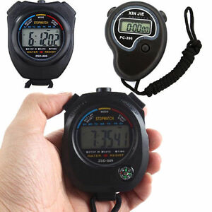Digital-Handheld-Sports-Stopwatch-Stop-Watch-Timer-Alarm-Counter-2-Colours