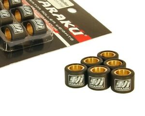 Naraku-HD-Heavy-Duty-Variator-Rollers-15x12mm-3-0g-Yamaha-Aerox-Why-Vino-Bw-NG