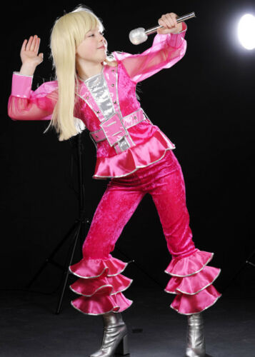Childrens 1970s Pink Disco Dancer Girl Costume