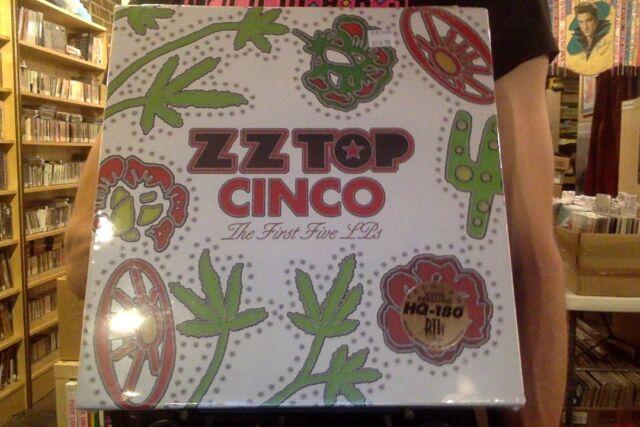 ZZ Top Cinco: The First Five LPs 5xLP box set sealed 180 gm vinyl