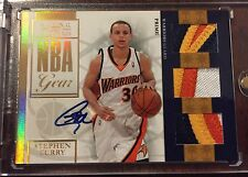 STEPHEN CURRY 2009-10 NATIONAL TREASURES RC PATCH AUTO #30/49 LOGO Jersey # 1/1