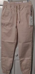 Men-039-s-Fairplay-Beige-Runner-Pants-w-drawstring-waist-NWT-Free-Shipping