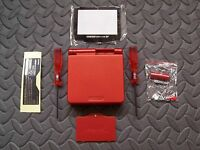 Game Boy Advance Sp Replacement Housing Shell Red + Screen Lens