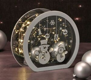 Beleuchtete Weihnachtsdeko Lichterbogen Leuchtbogen Spiegeleffekt Weihnachten