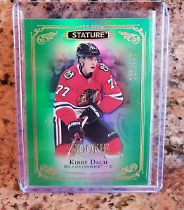 2019-20-UD-Stature-Kirby-Dach-GREEN-ROOKIE-125-Blackhawks-145-149