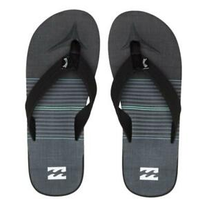 Billabong-NEW-Men-039-s-All-Day-Theme-Flip-Flops-Charcoal-BNWT