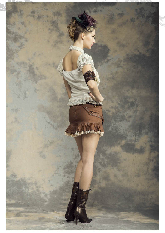 RQ-BL RQ-BL RQ-BL Vintage Pizzo Top Gothic Marronee Steampunk Pirates Camicia imbottite sp139 b62d15