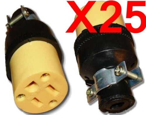 Wholesale 25 Female Extension Cord Replacement Electrical Plugs 15AMP 125V End