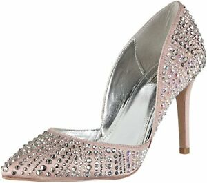 574aede07643 Rrp £140 Carvela KG Grady Size 5 38 Nude Dusty Pink Satin Diamante ...