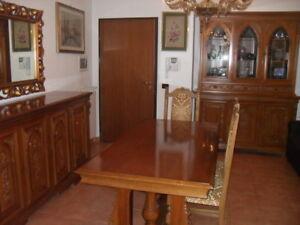 Sala Da Pranzo In Noce Nazionale Anni 60 Ebay