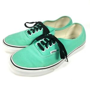 cae899d932 Details about Vans Off The Wall Authentic Mens 9 Womens 10.5 Green White  Shoes Black Laces