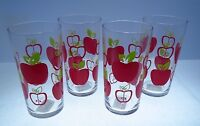 4 Apple Juice Or Water Glasses Drinking Stemware Cristar