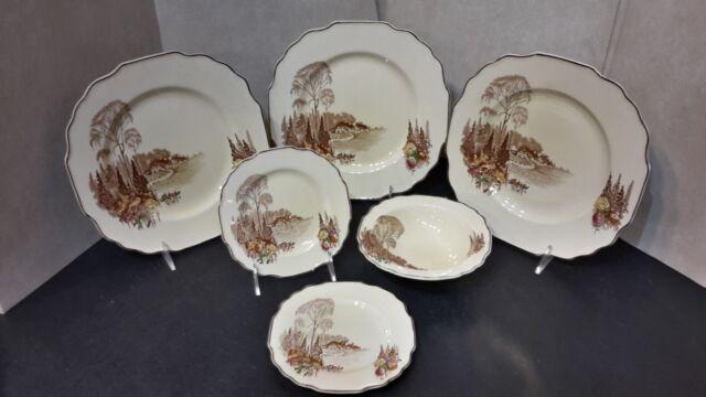 Myott Homeland - Set of 3 Dinner Plates 2 Bread & Butter Plates & 1 Cereal Bowl
