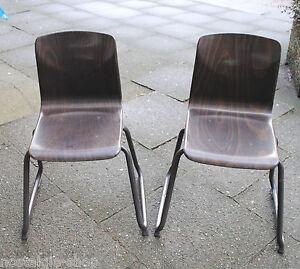 Details zu Kinderstühle ASS Möbel Schulstühle 2 Stück made in Germany Mid  Century