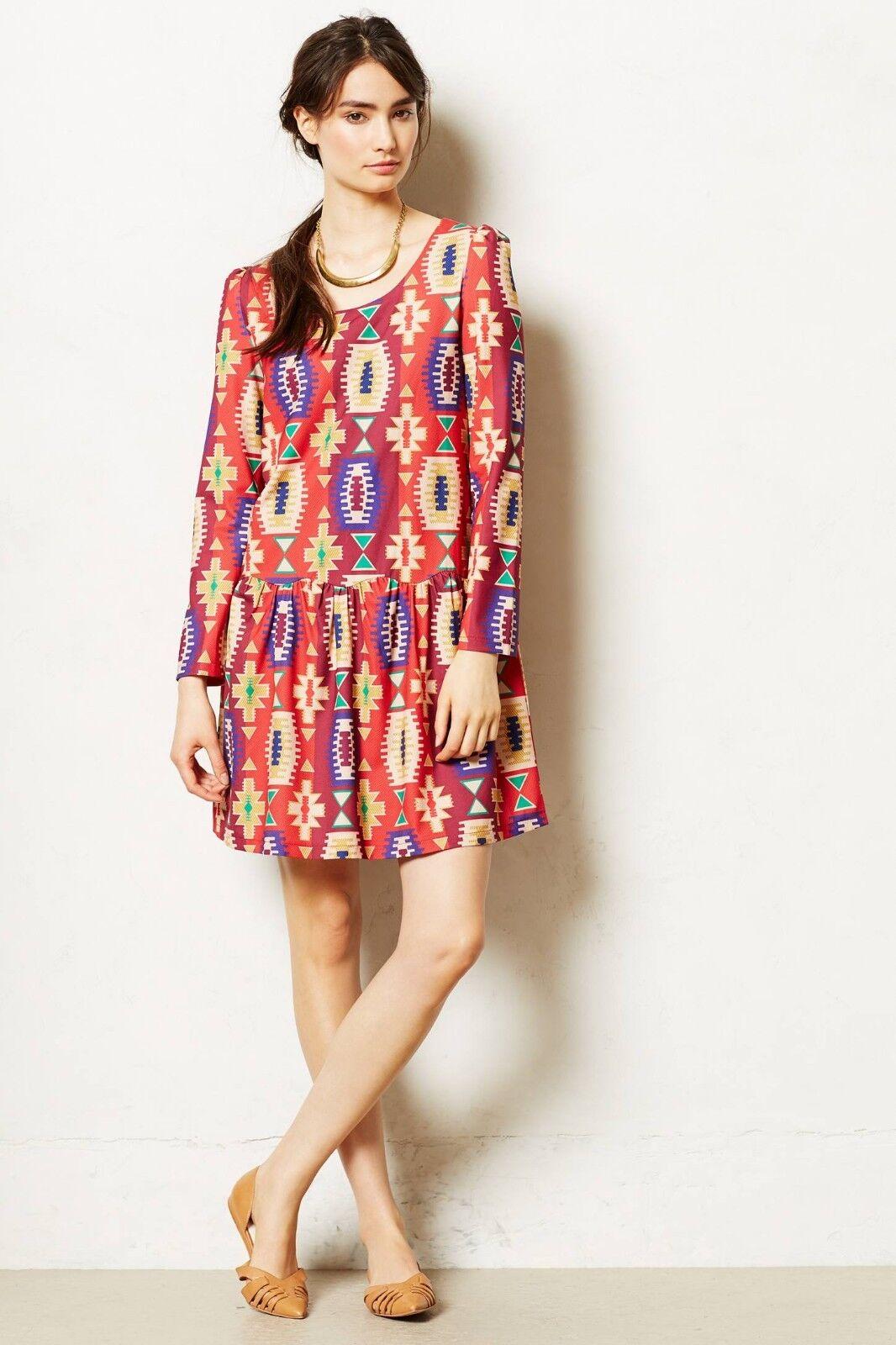 NIP Anthropologie Wildfires Dress by Eyedoll, Größes, rot, , fun & cute