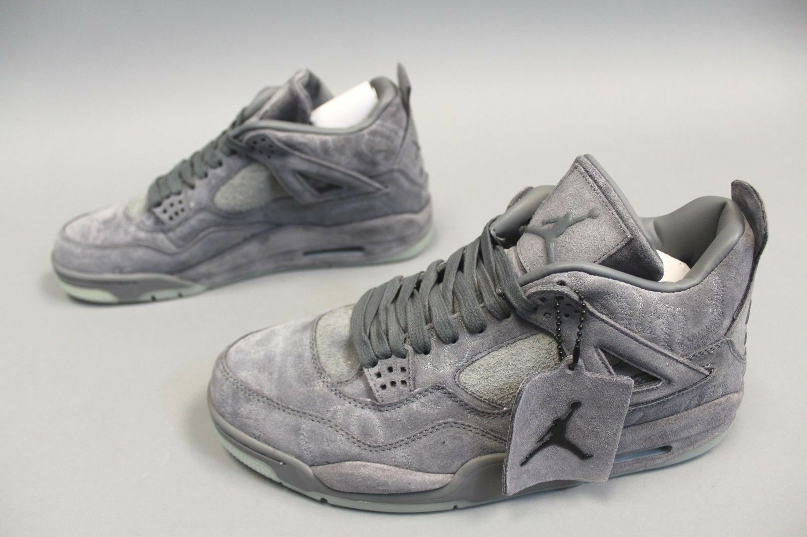 Air Jordan 4 Retro Kaws Basketball Shoes GG8 Cool Grey/White 930155-003 Size 12