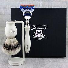 CLASSIC SHAVING KIT Silver Tip Badger Brush & Gillette Fusion MEN'S GROOMING SET
