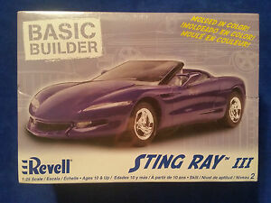 Revell-Sting-Ray-III-1-25-Scale-Model-Car-New-in-Box-Purple-Basic-Builder
