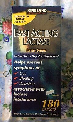 Kirkland Signature™ Fast Acting Lactase Enzyme Lactaid 180 Caplets - QUICK  SHIP 96619561537   eBay