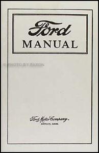 ford model t owners manual 1915 1916 1916 1917 1918 1919 guide book rh ebay ie 1918 Model T 1924 Model T