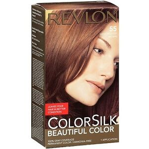 Image Is Loading Revlon Colorsilk Beautiful Color 55 Light Reddish Brown