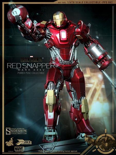 Marvel 1/6 Scale Iron Man Mark XXXV (35) ROT Snapper Figure Hot Toys