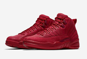 86b78797843 Air Jordan Retro 12 XII Gym Red Toro BULLS 130690-601 GS Men Size 4Y ...