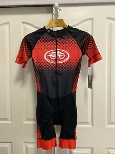 Zoot-Triathlon-SS-Aero-Racesuit-Men-039-s-Large-New