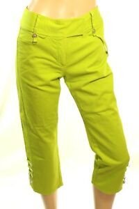 Scarpa Jeans Pinocchietto Pantaloni Stretch Donna Verde Denim Roberta fxq1nS6wq