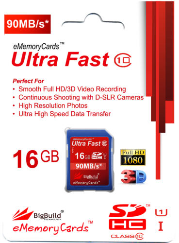16GB Memory card for Nikon Coolpix L330 CameraClass 10 80MB//s SD SDHC New UK