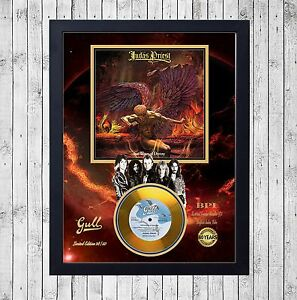 JUDAS-PRIEST-SAD-WINGS-OF-CUADRO-CON-GOLD-O-PLATINUM-CD-EDICION-LIMITADA-FRAMED