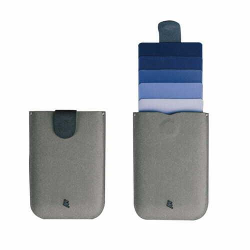 DAX V2 microfiber Midnight Blue slim card holder wallet