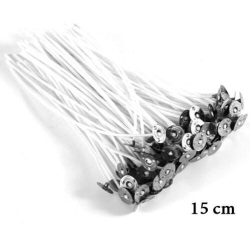 Kerzendocht Kerzen selbst gestalten gewachst und mit Fuß 15 cm Docht