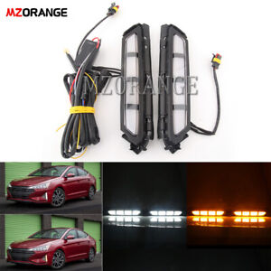 2X-For-Hyundai-Elantra-2019-2020-LED-Daytime-Running-Light-Fog-Driving-Lamp-DRL