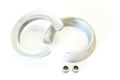 """ESCORT 87 FRONT LIFT KIT 2/"""" FORGED ALUMINUM COIL SPRING SPACERS EXTENDERS USA 11"""