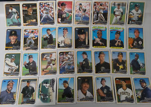 1989-Topps-Pittsburgh-Pirates-With-Traded-Team-Set-of-34-Baseball-Cards