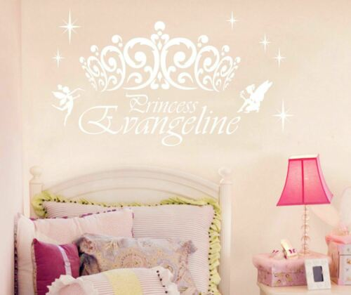 Princess//Prince Personalised Custom Name Wall Stickers Decal Kids Nursery Decor