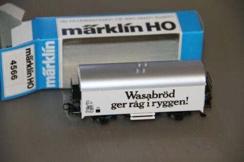 OVP// Märklin H0 4566 Wasabröd Kühlwagen SJ Schweden unbespielt