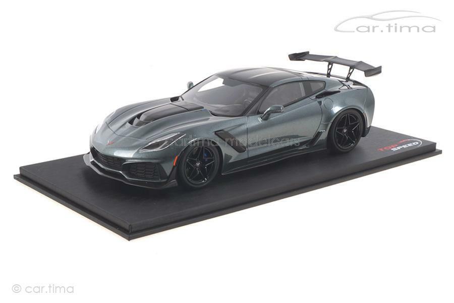 CHEVROLET Corvette zr1 SHADOW grigio MET.  topspeed 1 18 ts0148