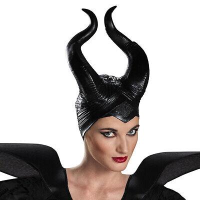 Masquerade Cosplay Latex Maleficent Hat Horns Evil Queen Headpiece Headwear Xmas