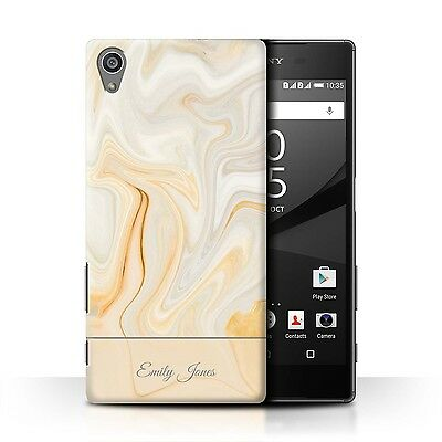 Personalised Marble Phone Case/Cover for Sony Xperia Z Initial/Name/Custom DIY