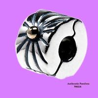 Authentic Pandora Sunburst Charm In Sterling Silver & 14k Gold, 790216 on Sale