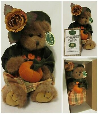 "Bearington The Bearington Collection 14"" Autumn Harvester Bear Fall Thanksgiving Limited Ed"