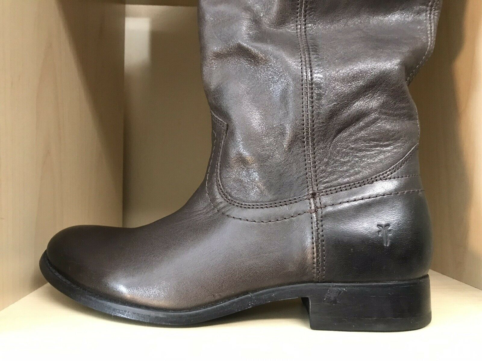 FRYE MELISSA MELISSA MELISSA PULL-ON TALL LEATHER BOOTS NEW SIZE 8 f45e7c