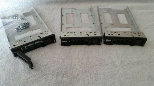 "DELL POWEREDGE C1100 C2100 3.5/"" SAS SATA DRIVE 0F463R SWAP CADDY TRAY QTY 3 LOT"