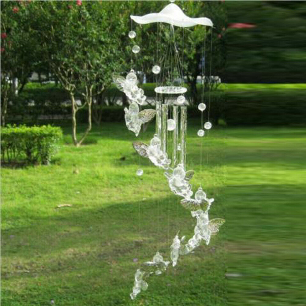 Hanging Guardian Angel Wings Wind Chime Tube Bells Home Pendant Charm Gift Decor